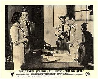 The Big Steal Original Lobby Card Robert Mitchum Jane Greer Don Alvarado 1949