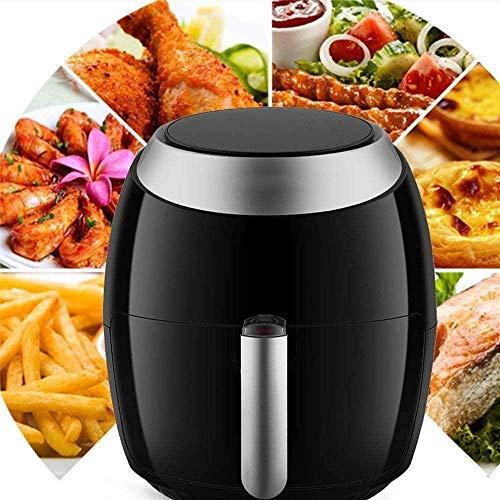 YLKCU Airfryer Heiße Digitale Modi der Luftfritteuse mit 7 Kochtemperatur-Auswahlwählern Antihaft-Pfanne 6,5 l Wohnküche