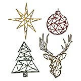 Sizzix Troquel Sizzix Thinlits Die Set 4 piezas - Navidad geométrica