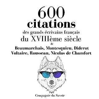 Couverture de 600 citations des grands écrivains français du XVIIIème siècle