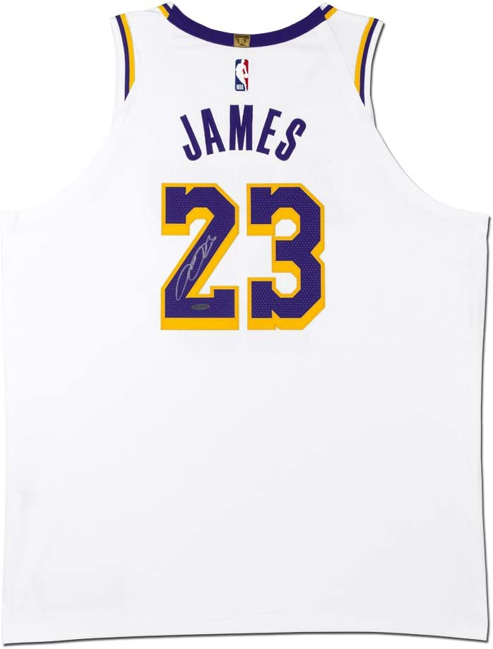 LeBron James Autographed Los Angeles Lakers White Authentic Nike ...