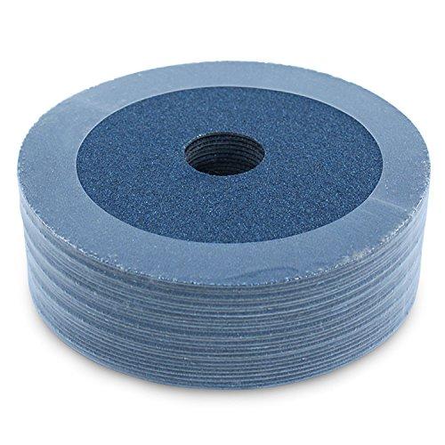 "BHA Zirconia Resin Fiber Grinding and Sanding Discs, 5"" x 7/8"", 120 Grit - 25 Pack"