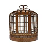 Durable & Environmentally Friendly Bird Cage, Travel Carrier for Birds Bird Cage Handmade Bamboo Large Thrush Bird Cage Portable Hanging Design Bird Out Cage Pet Supplies Poultry Care Pet Products (Si