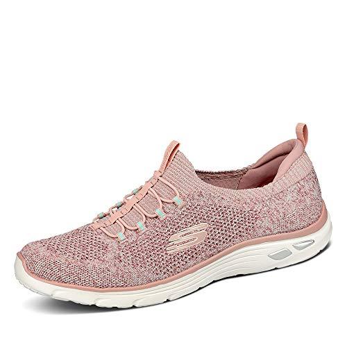 Skechers Damen Empire D'lux - Sharp Witted Sneaker, Pink (Rose Knit Mesh/White Trim Ros), 37 EU