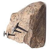 DESIGN DELIGHTS WANDGARDEROBE TREIBHOLZ 50 | 50x12cm (LxH), Recyclingholz Vintage Garderobe mit 4 Kleiderhaken, rustikale Hakenleiste aus Holz für die Wand - 4