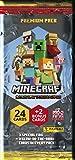Panini France SA-Minecraft - Lote de 24 Tarjetas EL, 004115B26FPEF