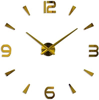 Neilyn Modern Acrylic Large 3D Numbers DIY Silent Wall Clock Simple Fashion Letters Stickers Clock Office