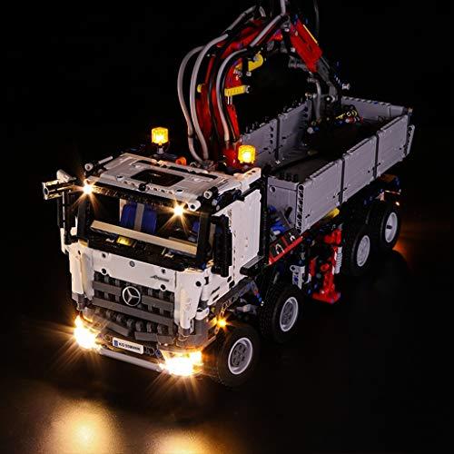 WYY Luz Kit Llevado Compatible con Lego 42043, Iluminación De Fondo para La Técnica del Camión Arocs 3245 Bloques De Construcción (Sólo La Luz con La Caja De La Batería)