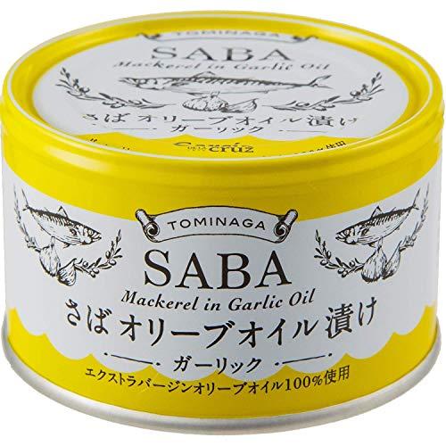 TOMINAGA さばオリーブオイル漬け ガーリック 缶詰 150g×1箱【24缶】