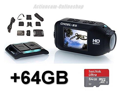 Drift HD Ghost S - Videocámara deportiva (inalámbrica, Full HD, mando a distancia, incluye tarjeta de memoria de 64 GB)
