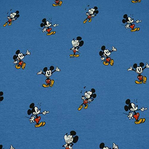 Lizenz Jersey Mickey Mouse Kopf schwarz Kinderstoff Meterware 0,5m