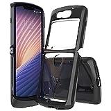 Case for Moto Razr 5G,Moto Razr 5G Case,Crystal Transparent Hard PC Design Reinforced Corners Shock Absorbing Slim Fit Flexible Bumper Resilient TPU Phone Case for Motorola Moto Razr 5G 6.2' (Black)