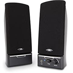 Space saving 2.0 PC speakers fit on any tight desktop! Great for any multi-media listening experience, music, games, or voice! Convenient speaker controls: On/Off, LED power indicator, Volume, and Headphone output jack! Good looking design with discre...