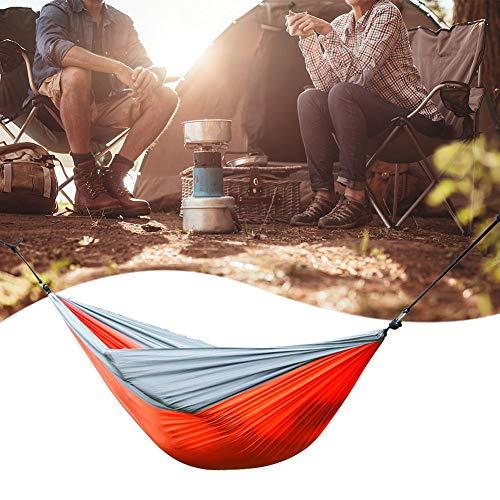 Z Nylon Parachute Tissu Double Hamac Orange Gris Backyard Relax Fournitures