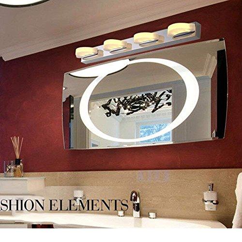 LYHY Home Baño Espejo Faros 58Cm Acero Inoxidable Acrílico Led Espejo de baño Espejo Frontal/gabinete de Espejo/lámpara de Pared/Bombilla cosmética incluida, Faro de Espejo