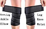 Tima 1117 Extra Long Elastic Knee wrap Compression Bandage Brace for Legs, Plantar