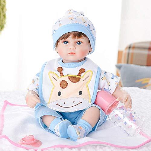 18-Zoll-Reborn-Babypuppe Nette realistische weiche Silikon-Vinylpuppen Neugeborene Babypuppen,Babypuppen