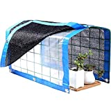 WINGOFFLY Foldable Plant Canopy with Shade Cloth and Rainproof Cover 75% Sunblock Balcony Sun Shade Net for Succulents Flowers, 16.5'x11.8'x11.8'