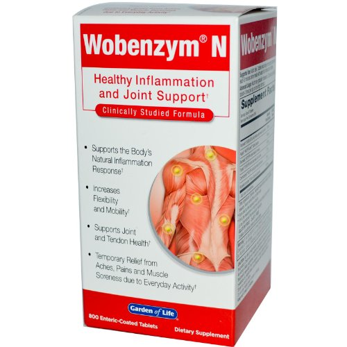 Wobenzym, Wobenzym N, Healthy Inflammation and Joint Support, 400 Tablets