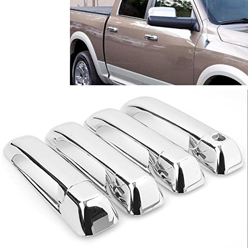 Chrome Side Door Handle Cover Trims Fit for Dodge Ram 1500 2500 3500 2009-2017