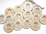 NICU Baby Gift NICU Milestone Cards - Beautifully Handcrafted Natural Wood Special Moment Photo Cards for Preemie Baby Moms Gender Neutral