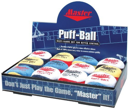 Master Industries Puff Balls Bowling Grip Aid (12 Count) by Master Industries