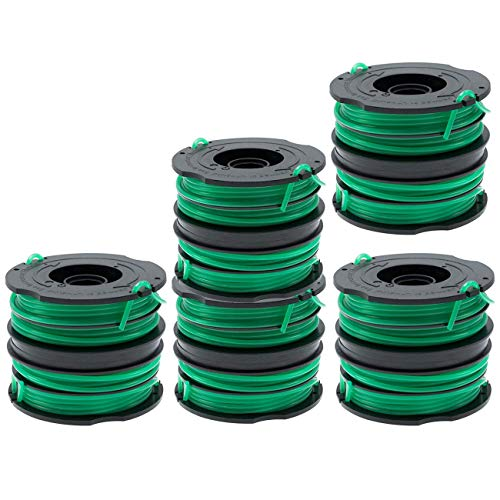 TIOIT GH1000 GH1100 GH2000 Trimmer Replacement Spools Compatible with Black Decker Weed Eater String, DF-080 Spool Line Refills, Dual Line Edger Parts 30ft0.080-inch (10Pack spools)