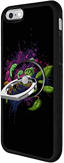 Odiasnquq Designed Cartoon Chameleon iPhone 6s Plus 6 Plus Case with Ring Holder Stand 360 Degree Rotatable and Durable Ring Stand, TPU Rubber Cartoon Chameleon Case for iPhone 6s Plus 6 Plus