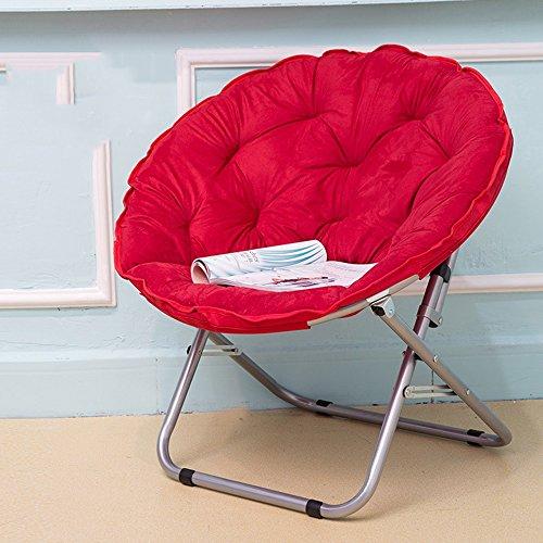 Chaises pliantes Xiaolin Moon Chair Lunch Break Chaise de Soleil Chaise paresseuse Chaise Ronde Chaise de canapé (Couleur : 01)