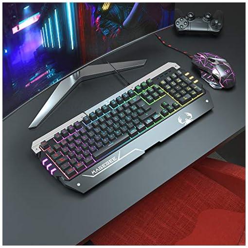 Teclado para Juegos RGB Juego de Teclado y Mouse para Juegos Retroiluminación LED RGB Optimamente Programable para PC… 7
