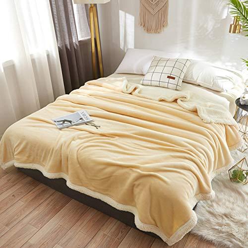 RTRHGDFFGFJHGDDTRHGHUG Licht geel Klein deken kantoor verdikt dutje deken student slaapzaal stapelbed deken (120x200CM)