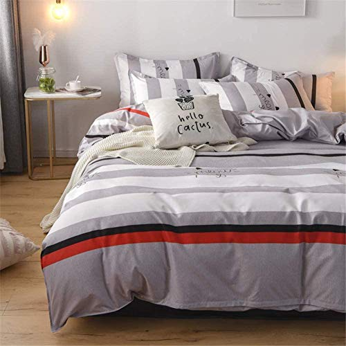 Greatideal Complete 4-piece Bed Set 5 Star Hotel Quality,includes Duvet cover, Fitted Bed Sheet and 2 Pillowcases. Size Double