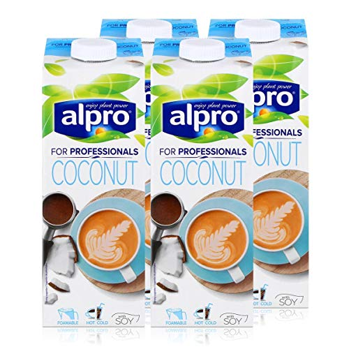 Alpro for professionals Coconut 1L - Kokosnussdrink mit Soja angereichert mit Calcium (4er Pack)
