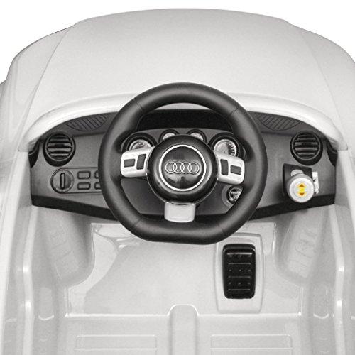 RC Auto kaufen Kinderauto Bild 5: vidaXL Kinder Elektroauto mit Fernbedienung Weiß Kinderfahrzeug Kinderauto*