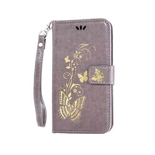Coozon Premium PU Leder Hülle Ledertasche Flip Schutzhülle Tasche mit St?nderfunktion & Kartenf?cher Für Huawei Ascend Y550 (4.0 Zoll)