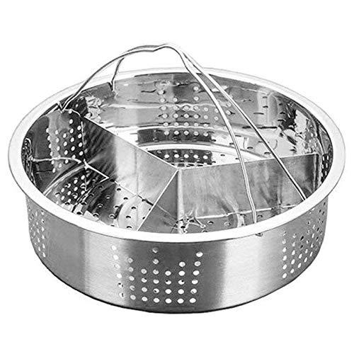 Estante de la estufa Sistema de estante de la cesta de vapor para las cestas de vapor de accesorios de cocina, soporte de huevo de vapor de huevo Rejilla para cocer al vapor (Color : Silver)