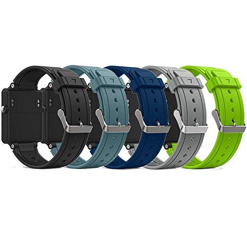 QGHXO Band for Garmin Vivoactive, Soft Silicone Replacement Watch Band for Garmin Vivoactive/Vivoactive Acetate (No Tracker, Replacement Bands Only) (5PCS Bands-Boy)