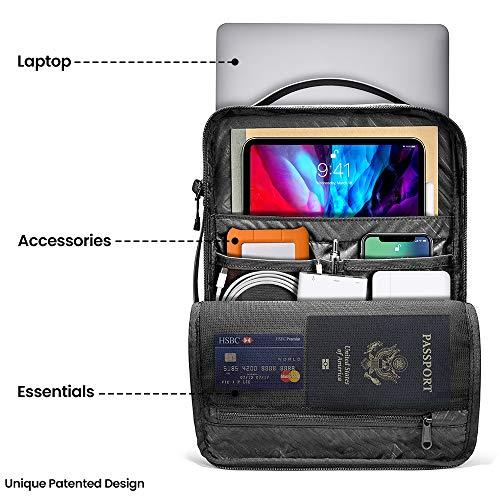 tomtoc Laptop Umhängetasche für 13-Zoll MacBook Air M1, MacBook Pro M1, 12,9 iPad Pro, 12,3 Surface Pro, 13,5 Surface Book Laptop, Schultertasche Notebooktasche Hülle Schulter Shoulder Bag Herren