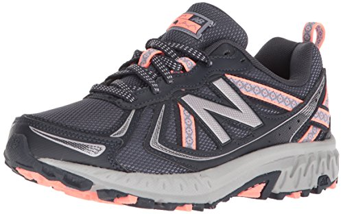 New Balance Women's 410 V5 Trail Running Shoe, Thunder/Gunmetal/Fiji, 5 W US