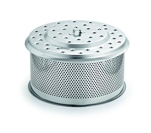 LotusGrill XL Ersatz Edelstahl-Kohlebehälter XL! Speziell entwickelt für den raucharmen Holzkohlegrill/Tischgrill