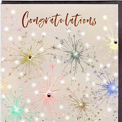 Belly Button Designs hochwertige Glückwunschkarte für viele Anlässe aus der neuen Elle Serie mit Prägung, Folie und Kristallen BE093