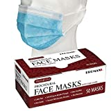 Promax Commercial Grade Disposable Medical Face Mask with Ear Loops, Blue, FDA and ASTM Level 1 Approved (50)