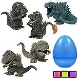 Coolinko 5 Godzilla King of All Dinosaur Monsters Figurines Inside a Jumbo Plastic Easter Egg