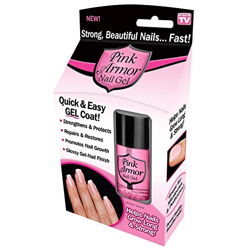 Ontel Pink Armor Nail Gel, Quick & Easy Gel Coat, As Seen on TV, 0.45 Ounce
