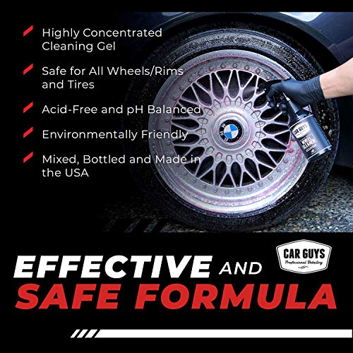 CAR GUYS Wheel Cleaner - Rim and Tire Cleaner for Brake Dust and Grime - Safe for Alloy, Chrome, Aluminum, and More - 18 Oz