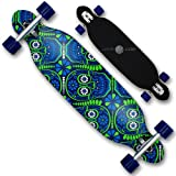 XQ Max Skull Party Longboard Mixte Adulte, Bleu/Vert