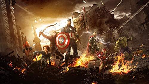 Rompecabezas de Madera para Adultos de 1000 Piezas Puzzle Las películas de los Vengadores Iron Man Hulk Educar a los niños Juegos de Juguetes para niños y niñas