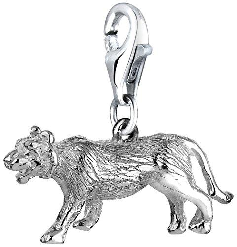 Nenalina Charm Tiger Anhänger in 925 Sterling Silber für alle gängigen Charmträger 713169-000