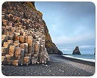 8 x 10インチマウスパッド滑り止め、黒砂ビーチマウスマットパッド-Reynisdrangarアイスランドクールなコンピューターギフト
