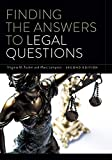 Book cover: Finding the Answers to Legal Questions